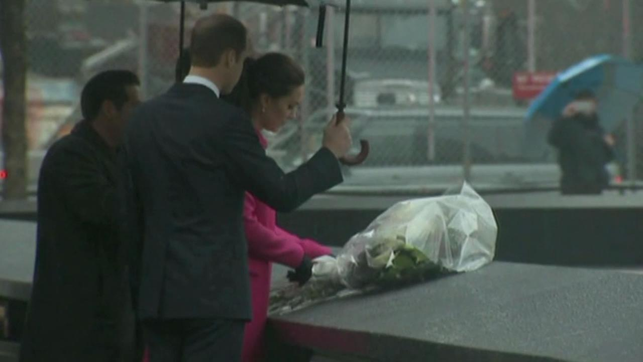 The Royal couple visited the 9/11 Memorial during their first official tour of the U.S.