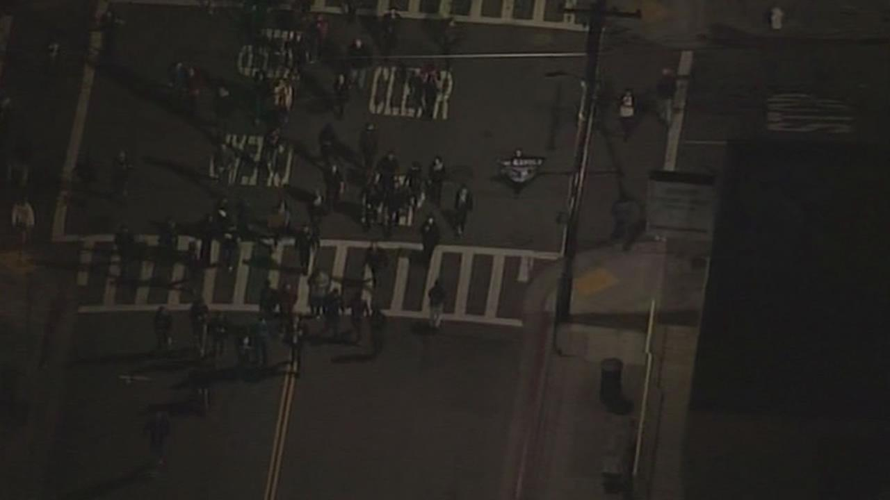 Protesters in Berkeley are marching for the fifth night a row.