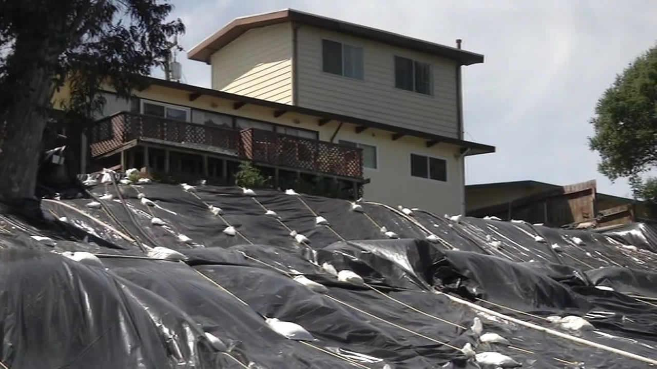 San Pablo hillside bagged up after landslide