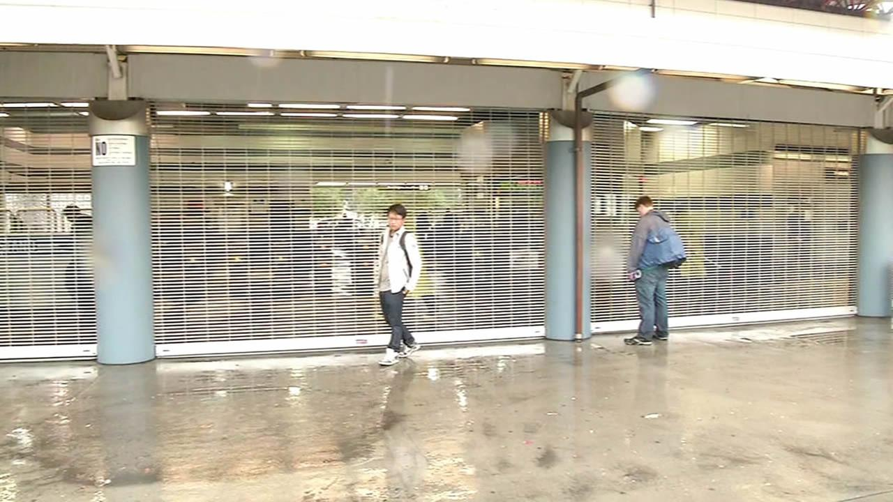 Montgomery BART closed due to flooding