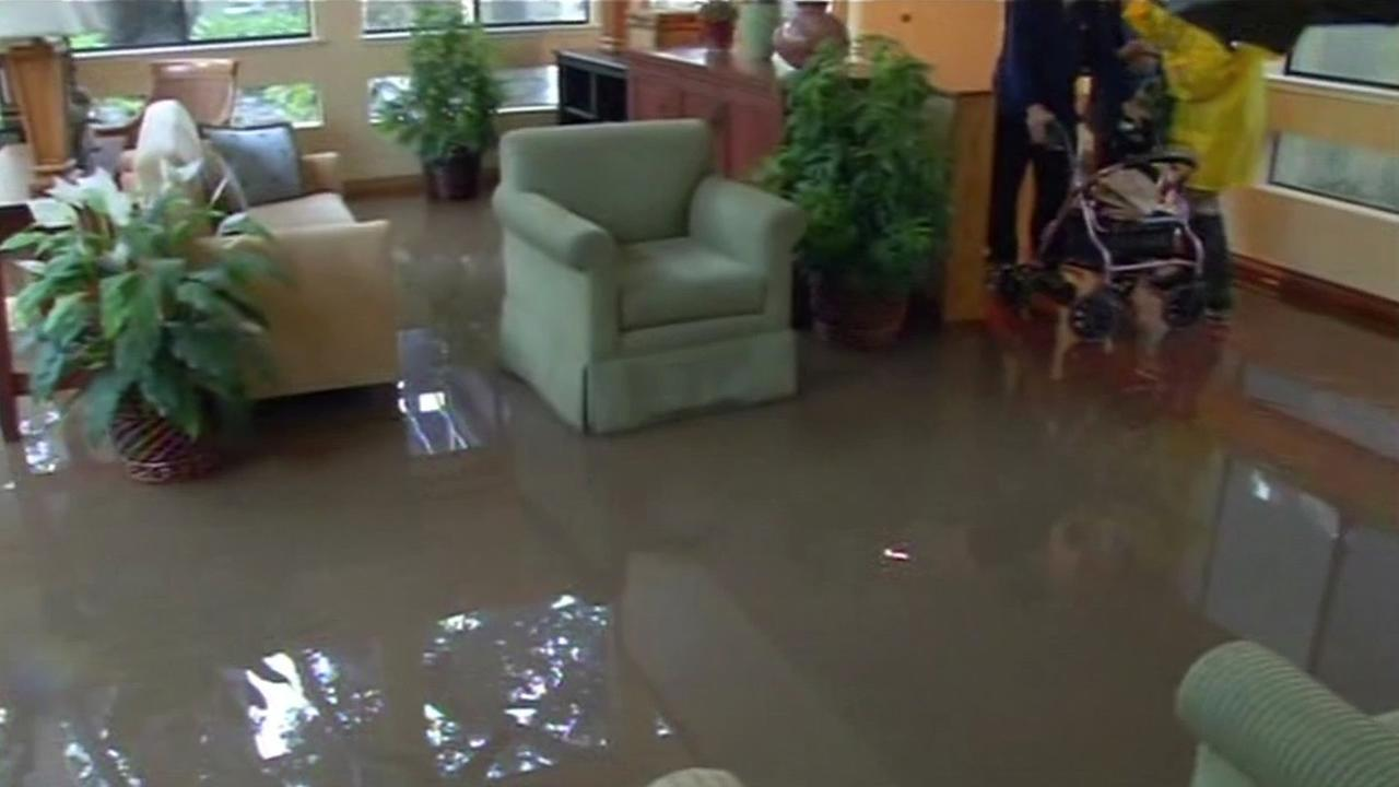 Flood water forced seniors out of a Cupertino retirement home