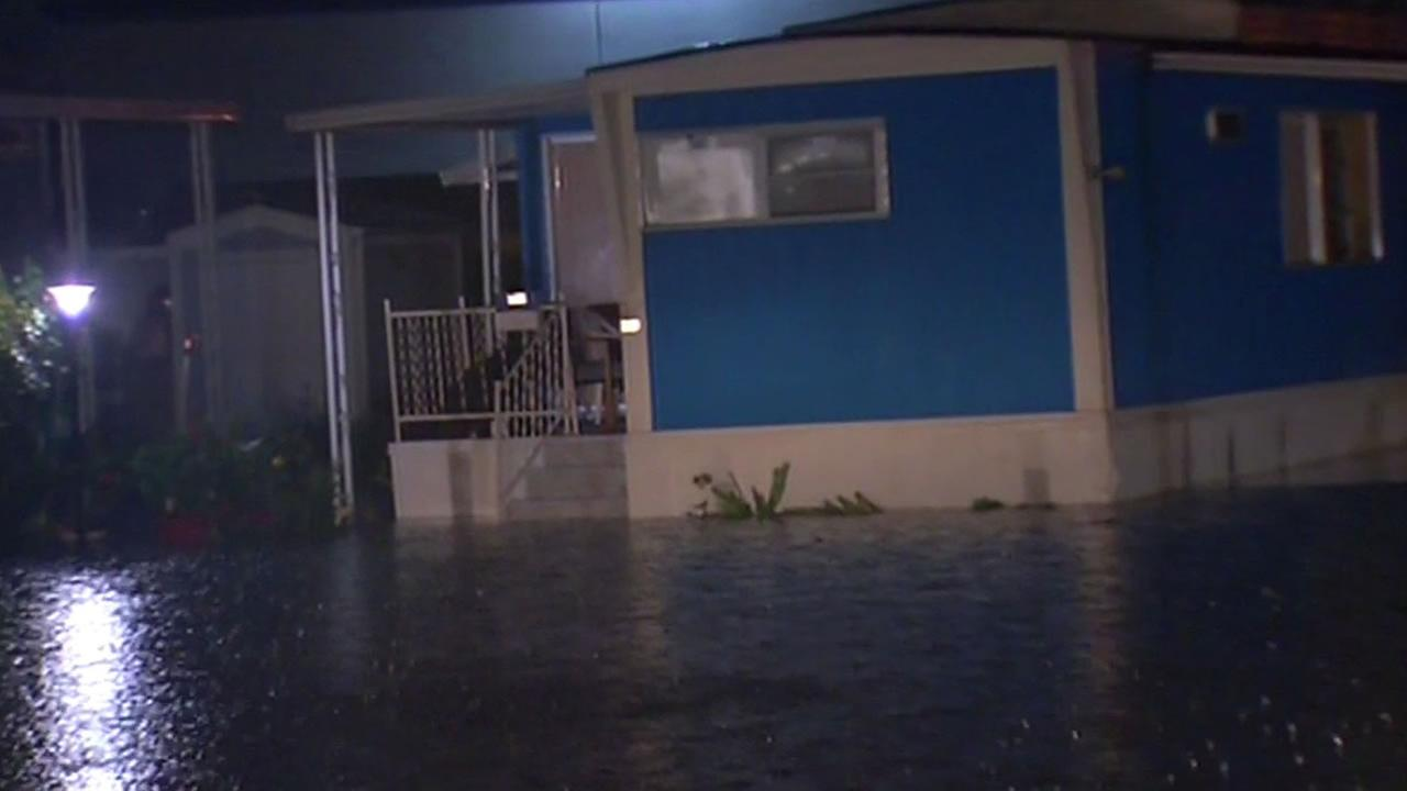 Mobile home park floods in Milpitas