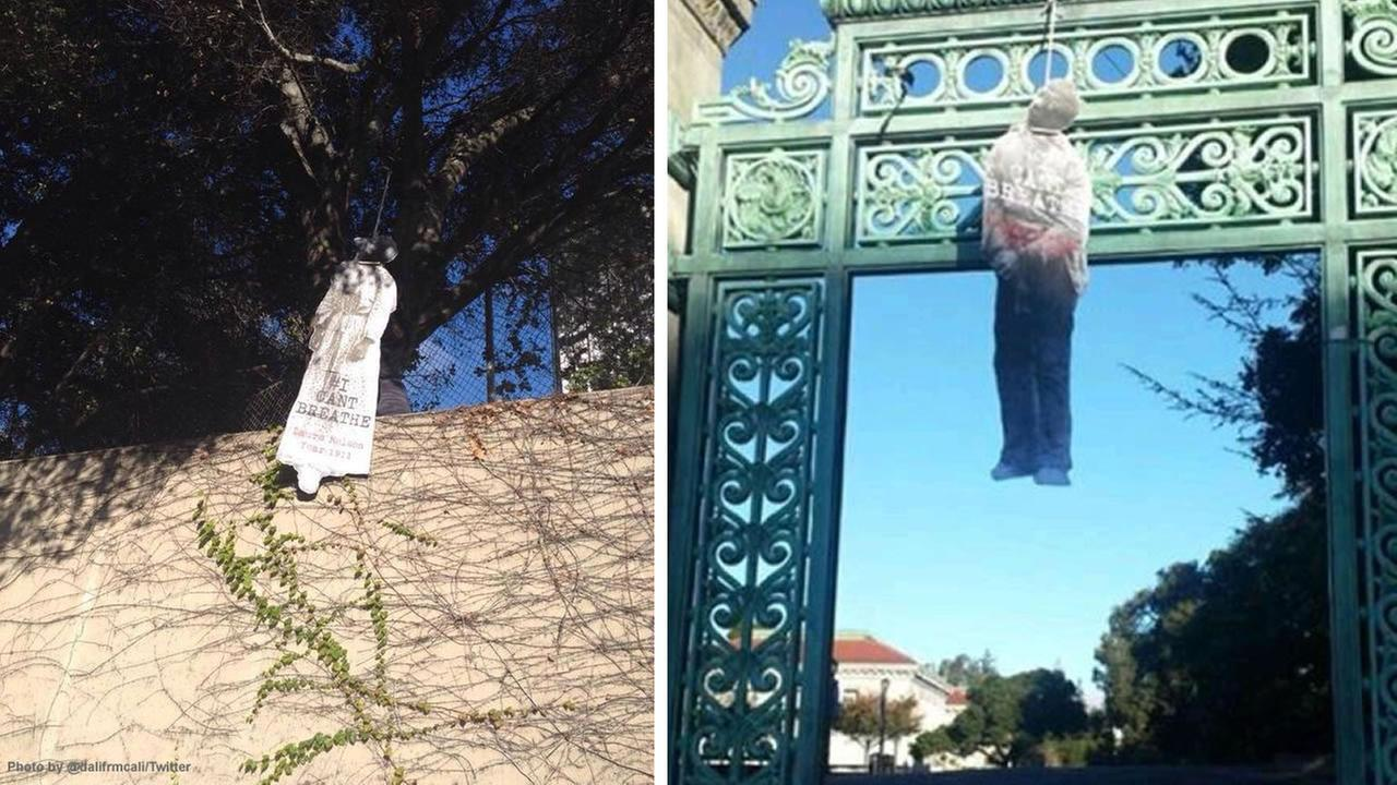 The images of black lynching victims were found Saturday morning on the UC Berkeley campus.
