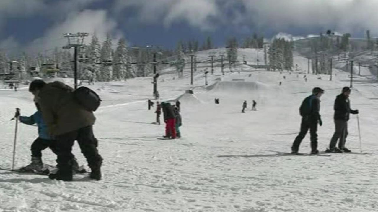 Skiers take advantage of heavy snowfall in the Sierra on Saturday, Dec. 13, 2014.