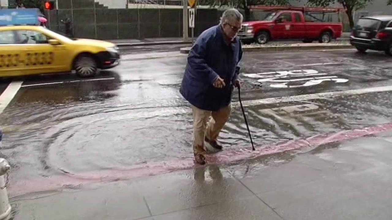 San Francisco residents had to deal with flooding on Monday, Dec. 15, 2014.