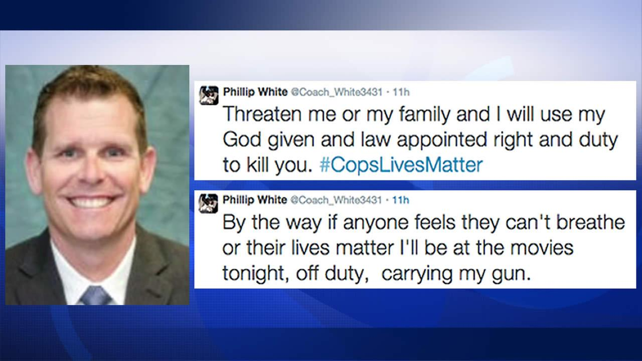 San Jose Officer Phillip White has been placed on leave after posting controversial comments about recent protests on Twitter.