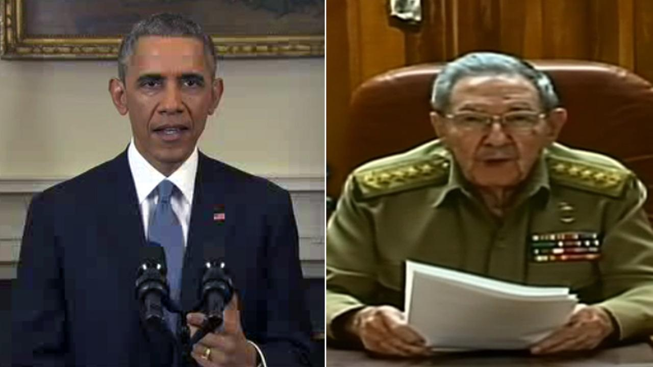 President Obama and Cuba President Raul Castro (ABC News)