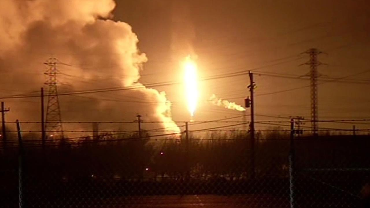 flaring at the Chevron refinery
