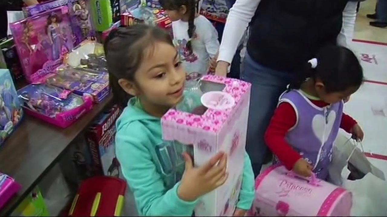 Glide Memorial Church toy giveaway