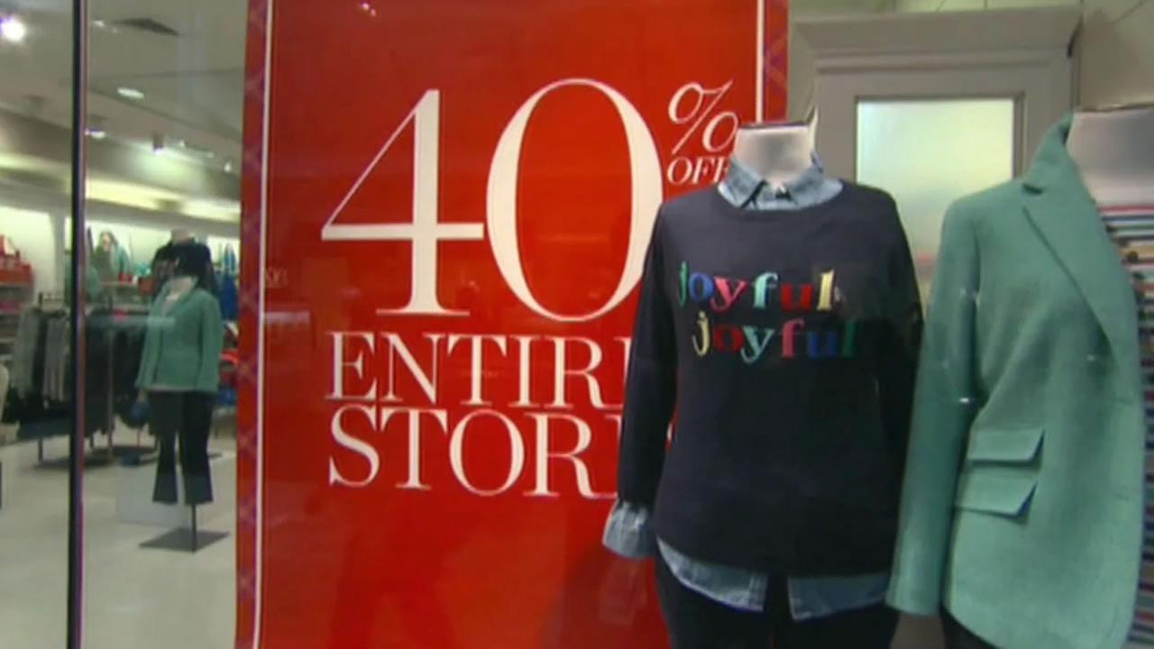 Retailers offer big deals for holiday shoppers, Dec. 2014.