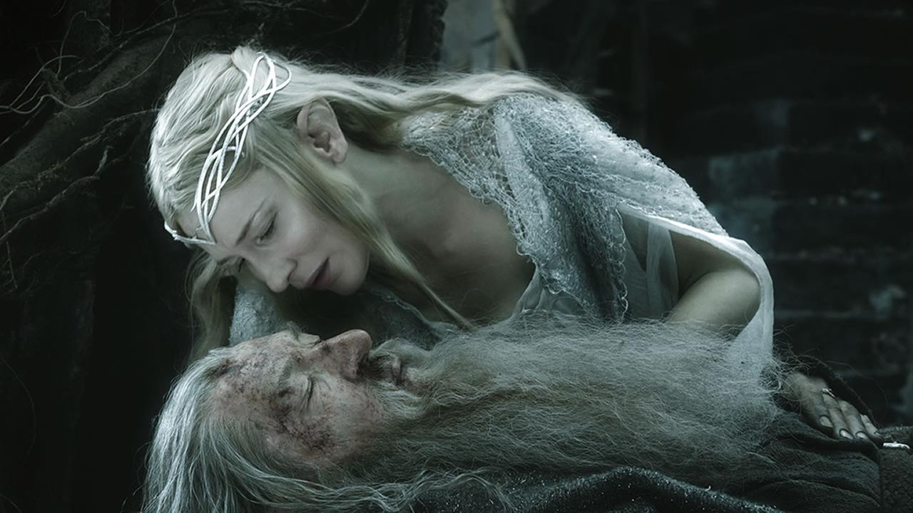 In this image released by Warner Bros. Pictures, Cate Blanchett and Ian McKellen appear in a scene from The Hobbit: The Battle of the Five Armies. (AP Photo/Warner Bros. Pictures)