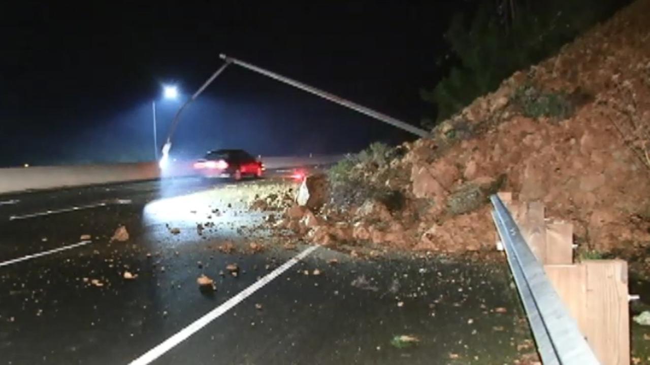 Rockslide in Sausalito