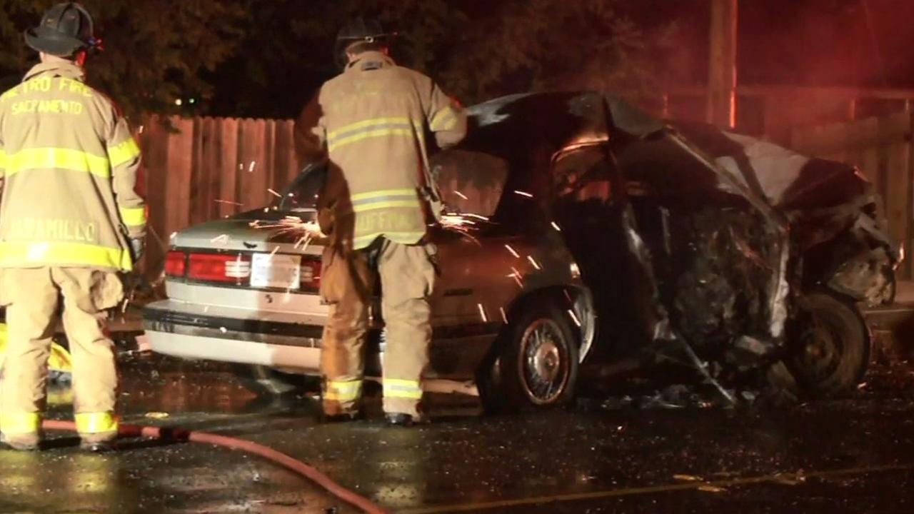 Fatal head-on crash in Fair Oaks, California.
