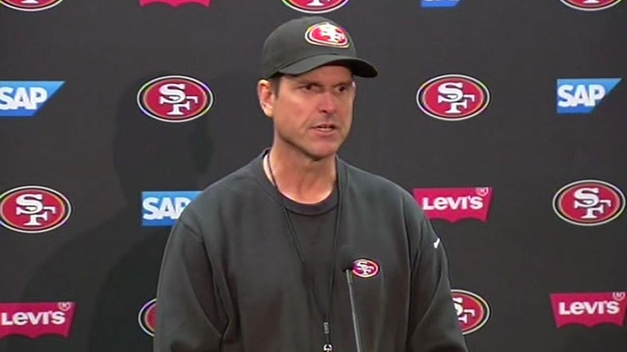 49ers head coach Jim Harbaugh