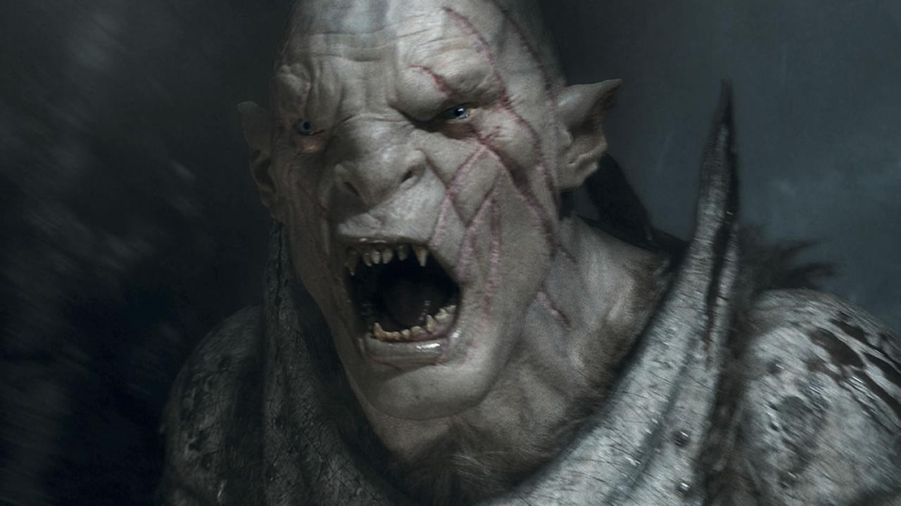 In this image released by Warner Bros. Pictures, Orc Azog, voiced by Manu Bennett, appears in a scene from The Hobbit: The Battle of the Five Armies. (AP Photo/Warner Bros. Pictures)