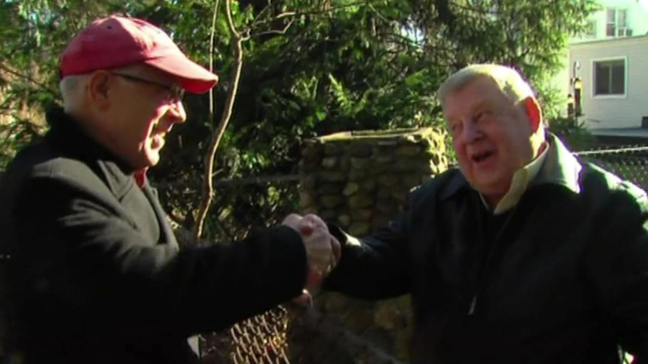 Two old friends reunited after 50 years after they found out they were neighbors for nearly two decades