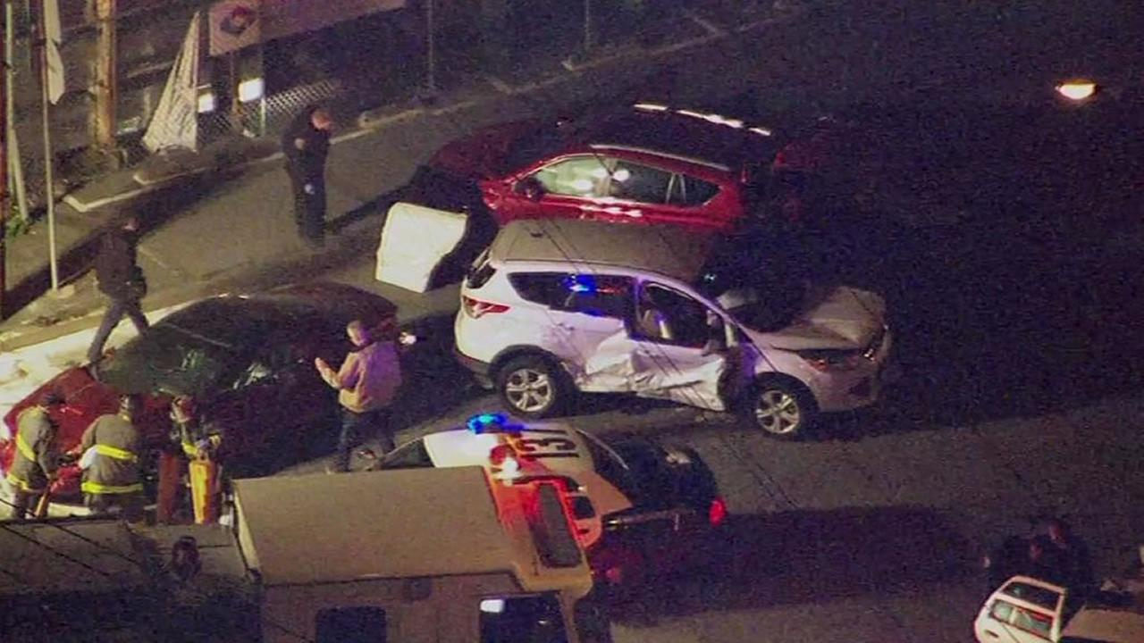 police on the scene of a car crash