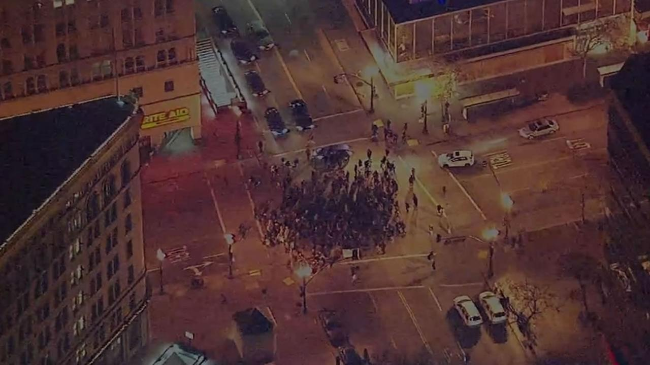 Protests against police brutality are underway in Oakland