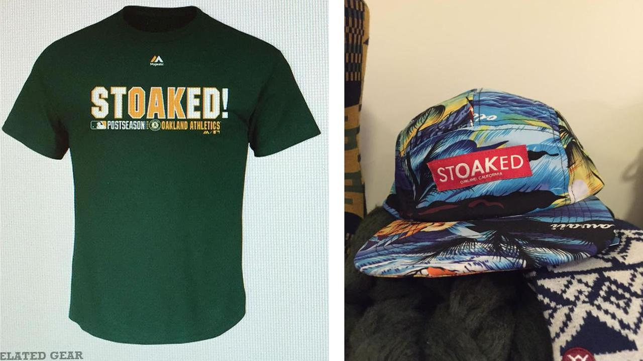 Two shirts with the word Stoaked
