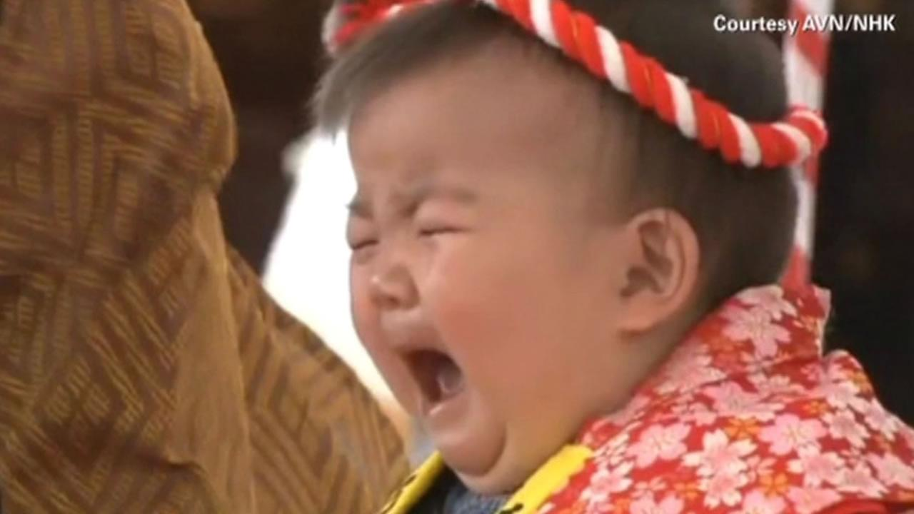 A contest in Japan pits babies against each other to see who will cry first.