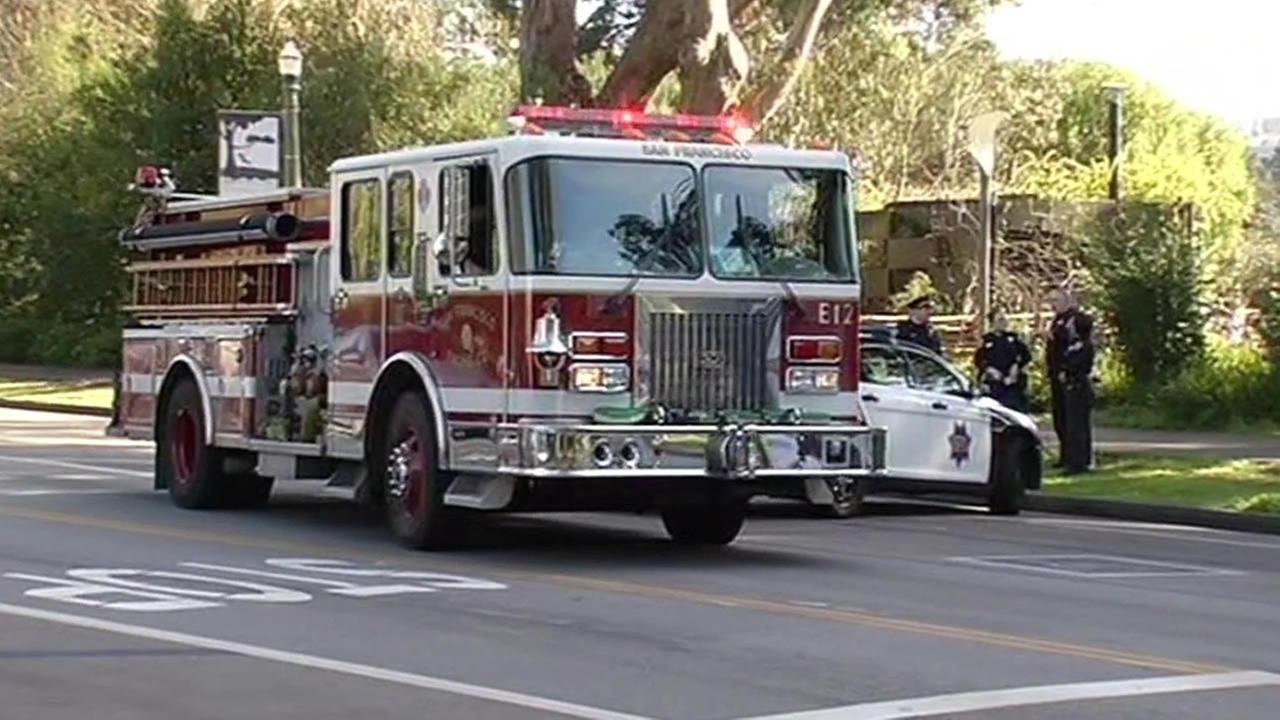 San Francisco fire engine on the street