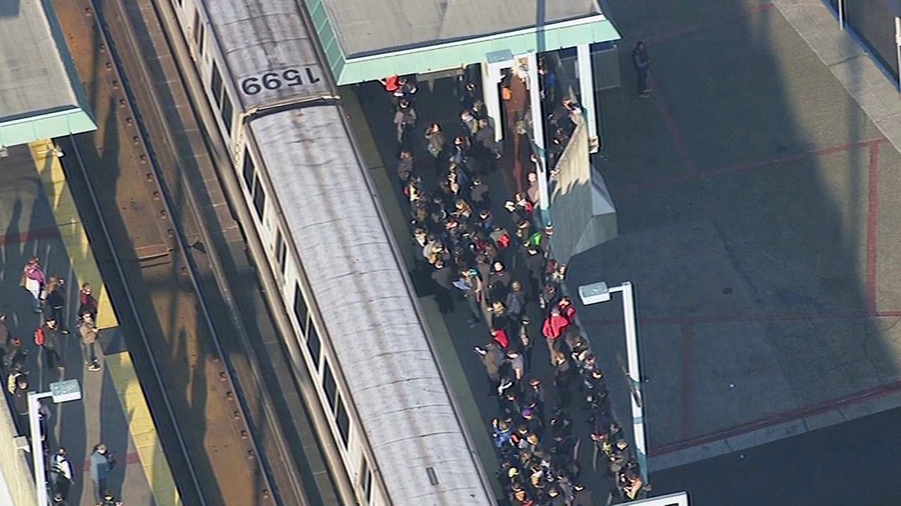 BART delay at West Oakland station.