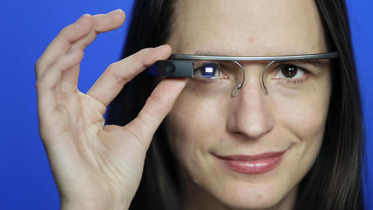 In this Feb. 21, 2014 file photo, Associated Press Technology Writer Barbara Ortutay poses wearing Google Glass in New York.