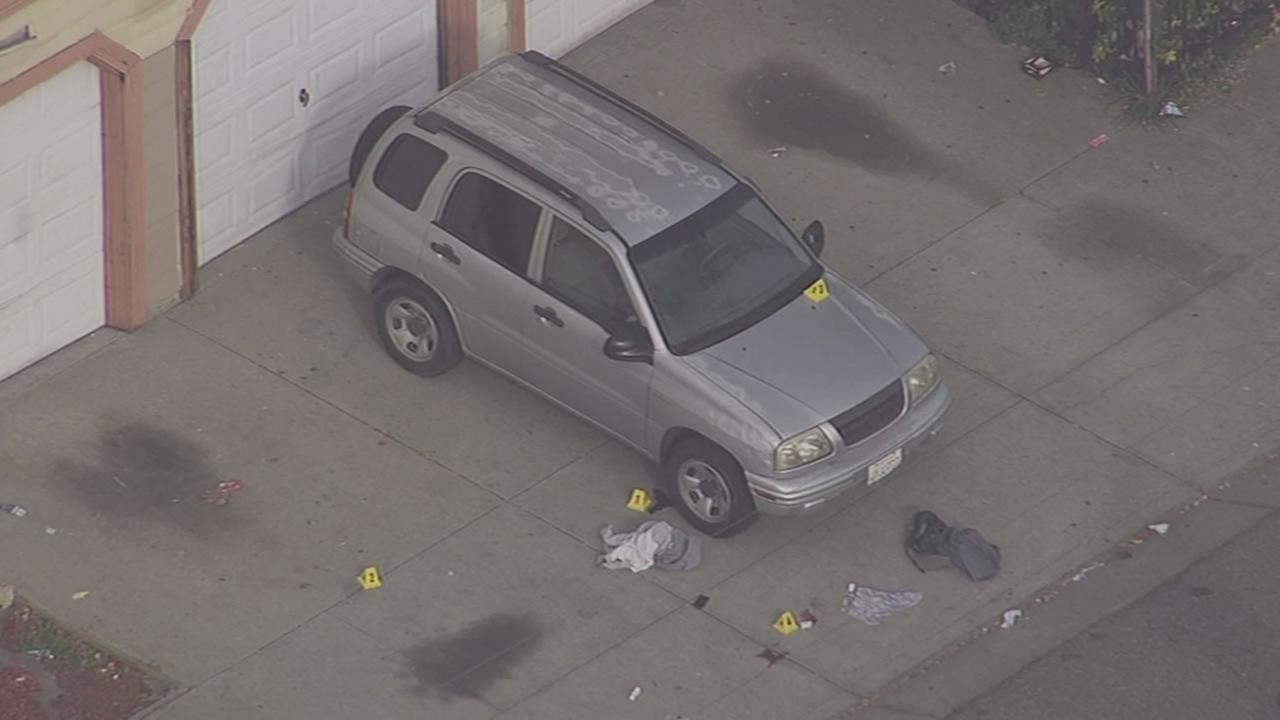 SKY7 HD over the scene of an officer-involved shooting on 20th Street and Nevin Avenue in Richmond