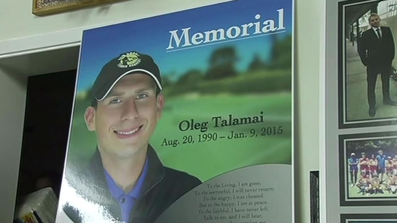 Oleg Talamais memorial sign