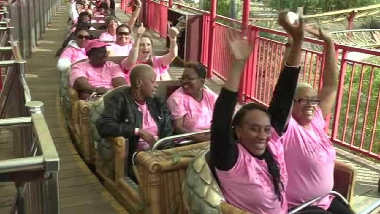 Six Flags Discovery Kingdom is turning pink for a five-week breast cancer event at the amusement park.