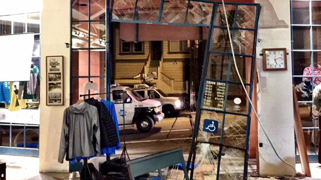 San Francisco police are investigating a smash and grab burglary at the Patagonia store near Fishermans Wharf.