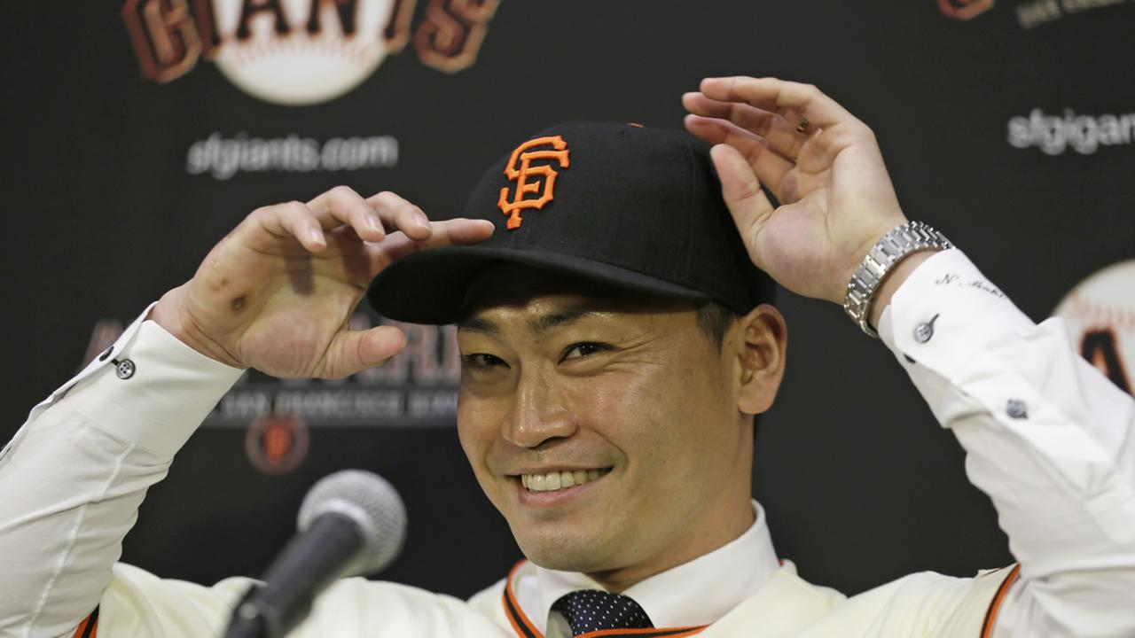 San Francisco Giants outfielder Nori Aoki
