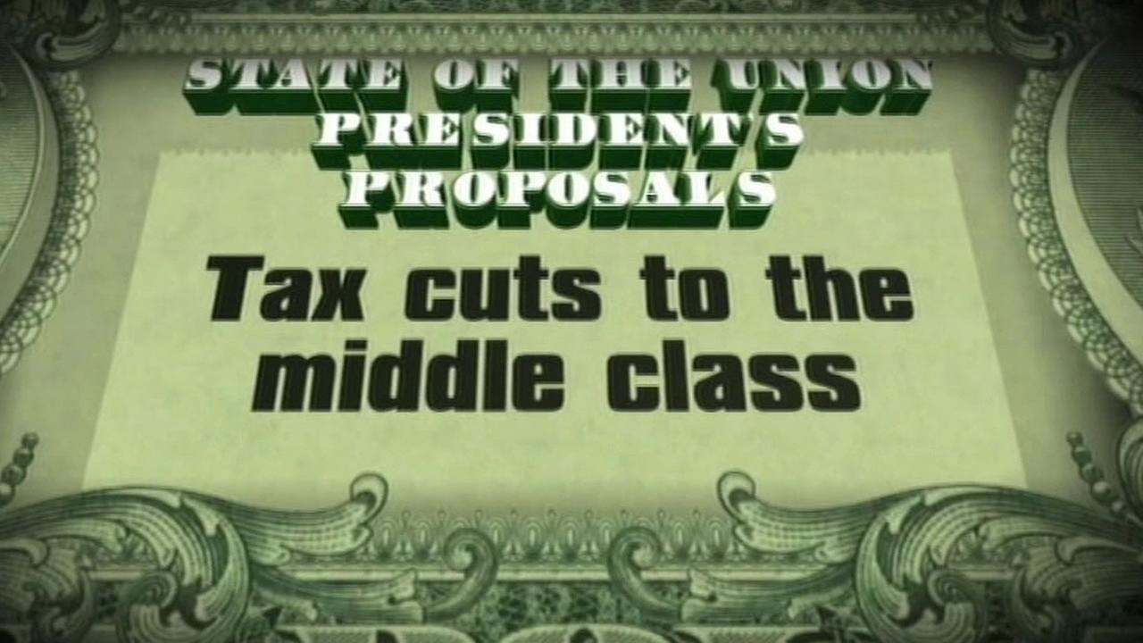 picture that says tax cuts to the middle class