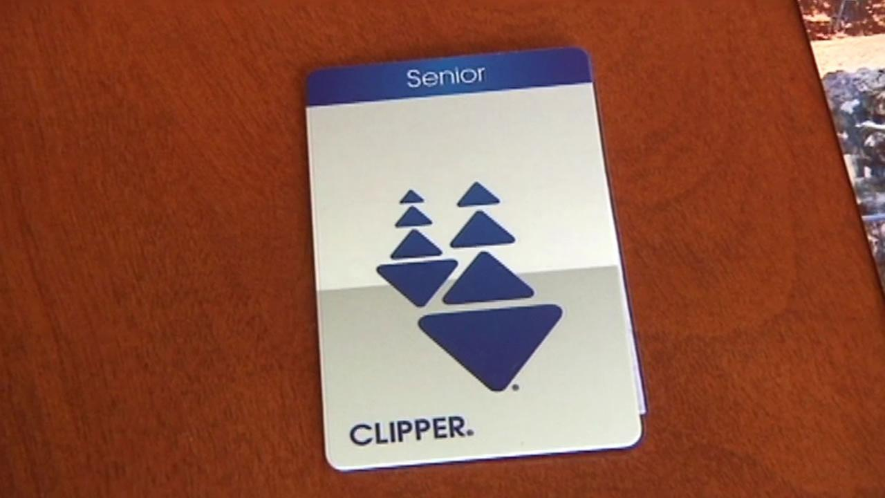 Bay Area Clipper card for seniors.