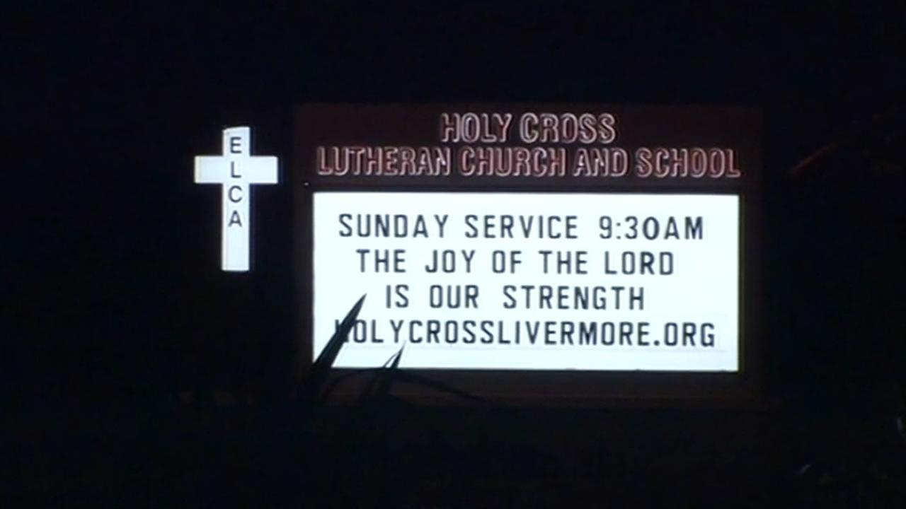 Holy Cross Lutheran Church sign