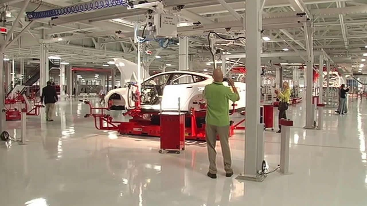 Tesla factory in Fremont