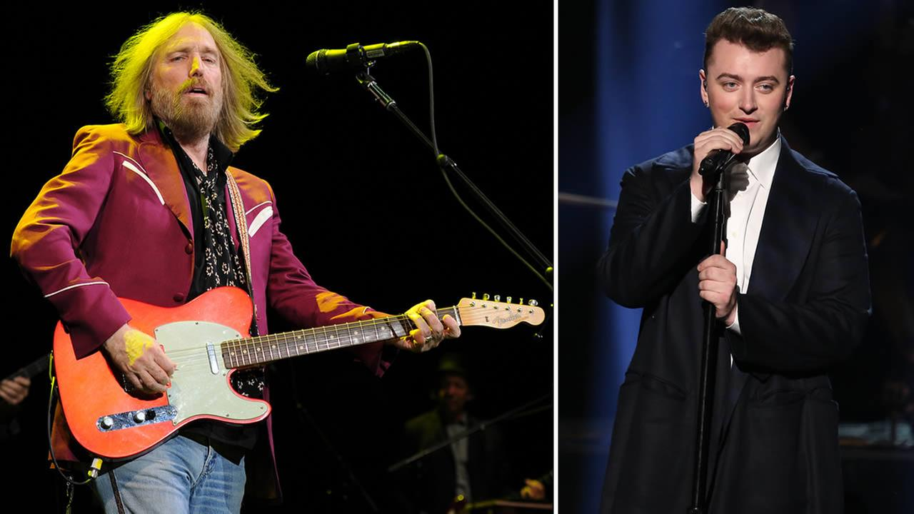 Tom Petty, left, has earned a writing credit on Sam Smiths megahit Stay With Me for its similarities to his song I Wont Back Down.