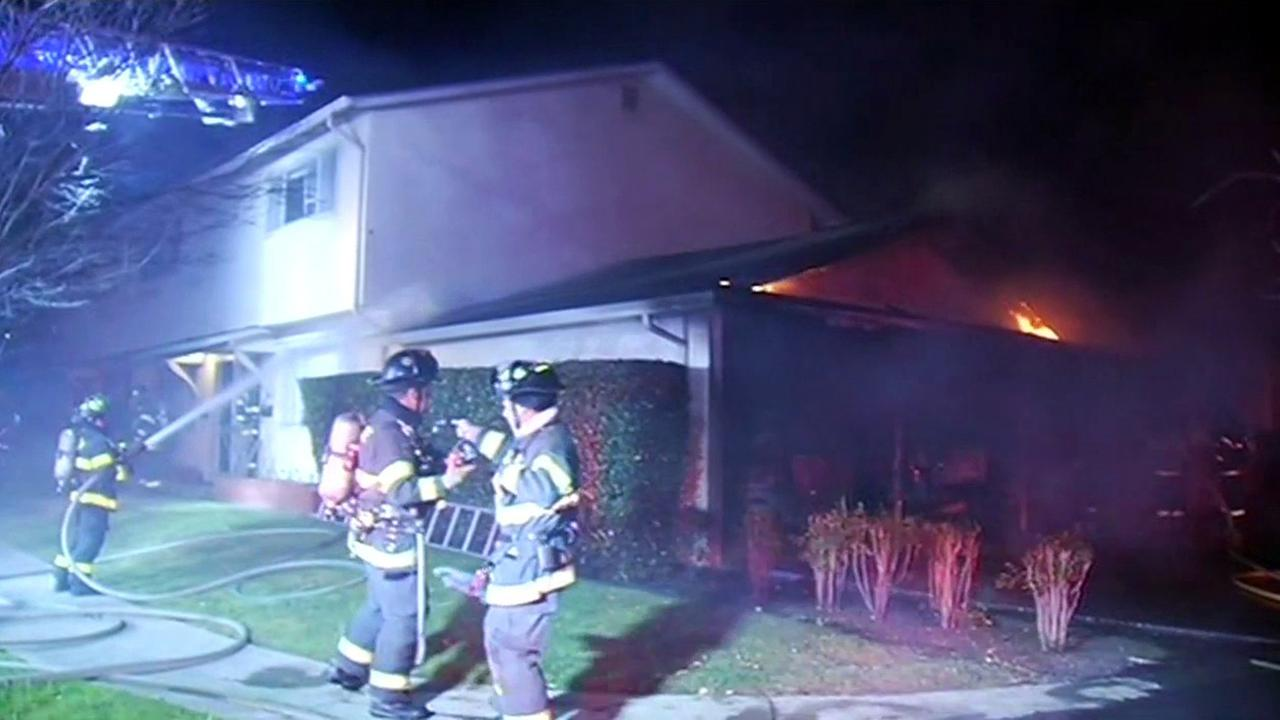 House fire in San Jose.