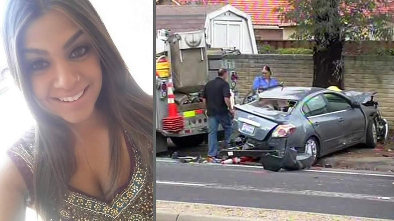 Police say 24-year-old Kiran Pabla was killed by two drivers who were speeding down Yerba Buena Road in San Jose, Calif. on Jan. 26, 2015.