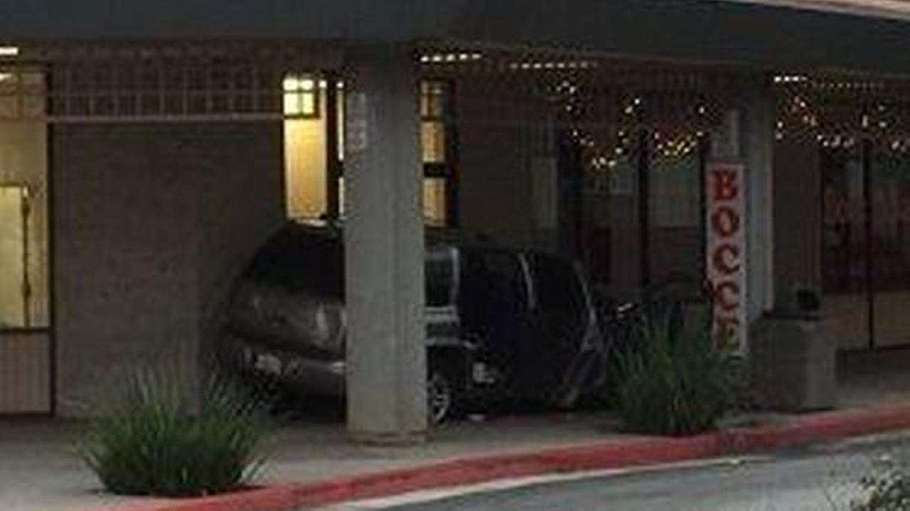 Another stolen SUV almost crashed into a business in the South Bay.