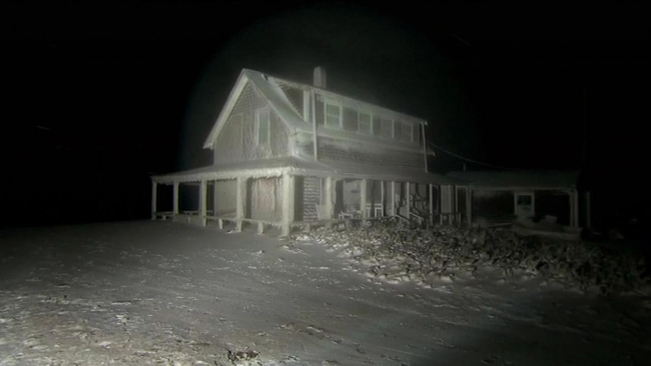 A powerful snow storm froze a house in Scituate, Mass. on Jan. 28, 2015.