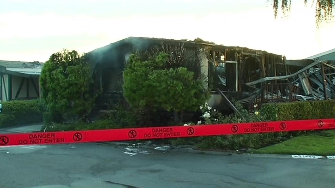 Investigators are trying to figure out the cause of a deadly mobile home fire and explosion in Sunnyvale.