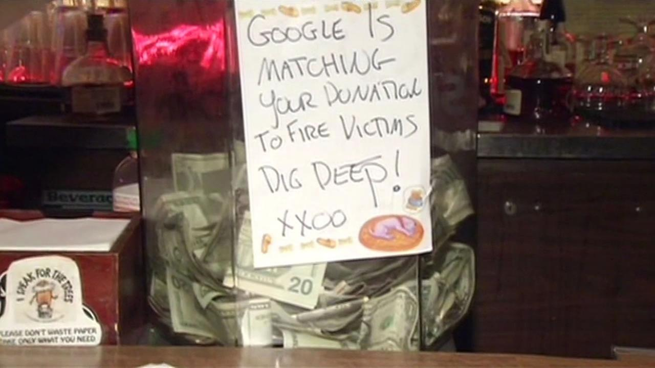 A fundraiser was held at Docs Clock on Jan. 31, 2015 for victims of a four-alarm building fire in the Mission District neighborhood of San Francisco, Calif.
