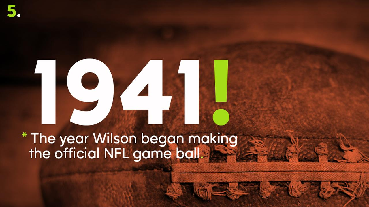 1941 -- The year Wilson began making the official NFL game ball.