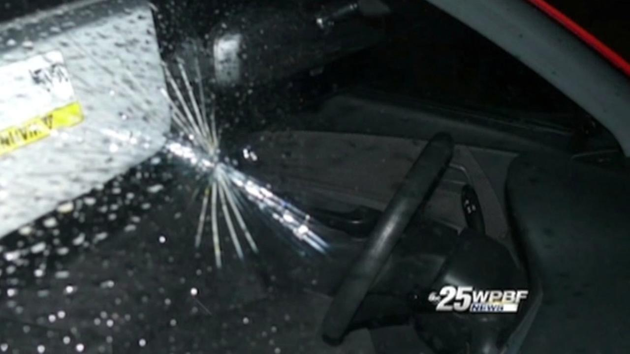 A 12-year-old girl went flying into a windshield when her mother slammed on the brakes to get her children to stop fighting.