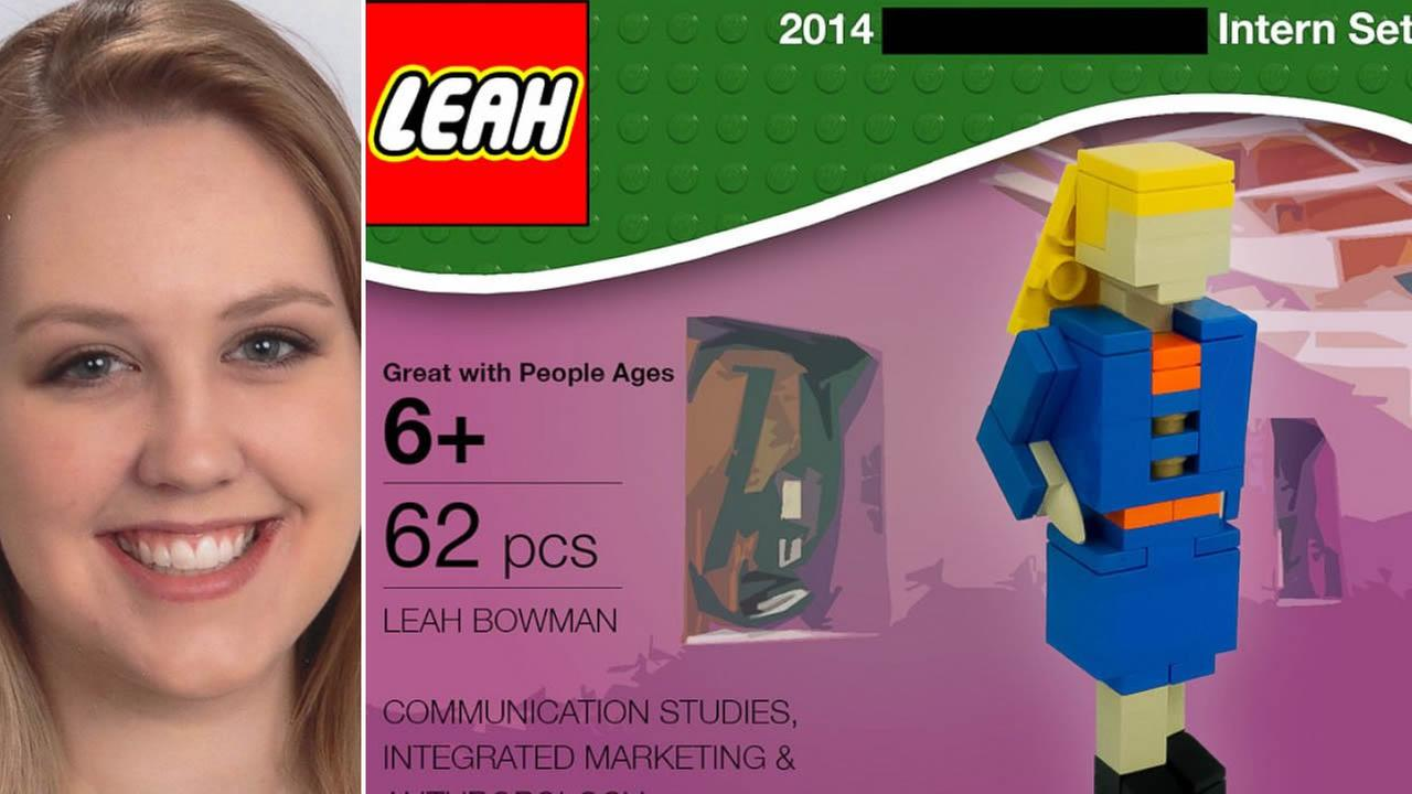 College student Leah Bowman landed a prestigious internship by using Legos to craft a creative resume.