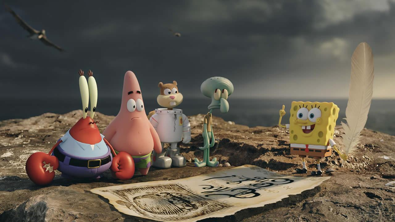 This image released by Paramount Pictures and Nickelodeon Movies shows characters in a scene from The Spongebob Movie: Sponge Out of Water. (AP Photo/Paramount Pictures and Nickelodeon Movies)
