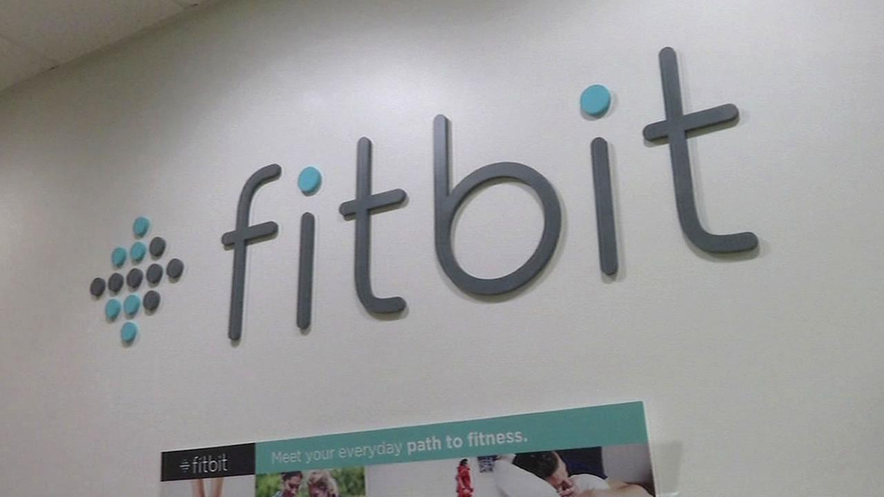 Fitbit logo on the wall