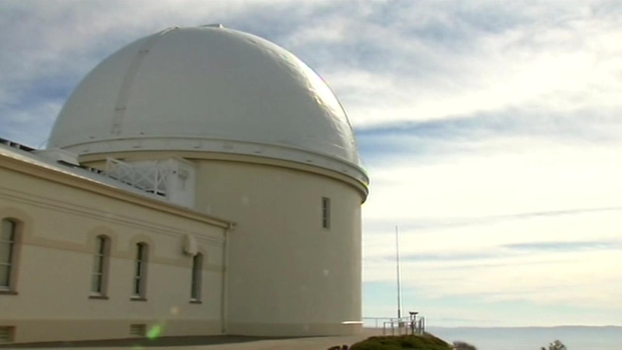 This photo shows the Lick Observatory atop Mount Hamilton just east of San Jose, Calif. on Feb. 10, 2015.