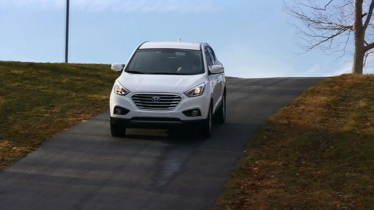 Hyundai hydrogen powered vehicle.